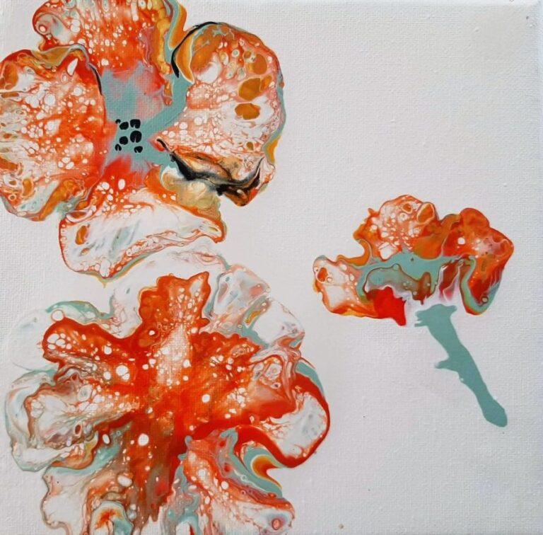 alt=''Bloemen uit acryl gieten Donna Hoogstraaten''/>